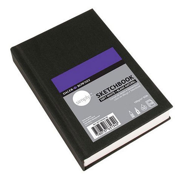 "Amazon.com: Daler-Rowney Simply Sketchbook - 65lb 110 Sheet Hardbound Book - Extra White - 4""x6"""