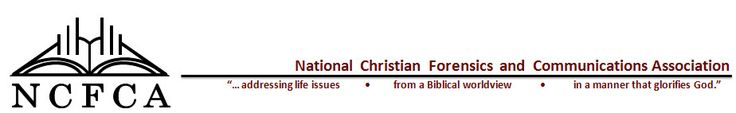 The National Christian Forensics and Communications Association (NCFCA) - speech and debate for homeschoolers