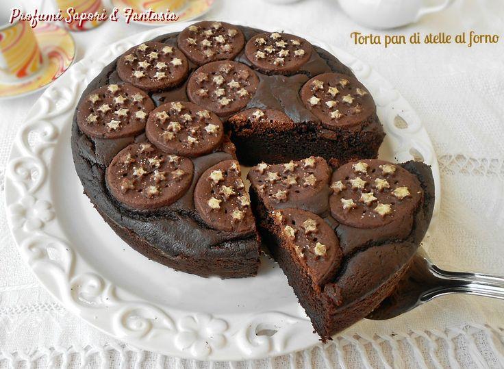 La torta pan di stelle al forno è dedicata a tutti gli appassionati di cioccolato. La differente consistenza interna rende la torta golosissima.