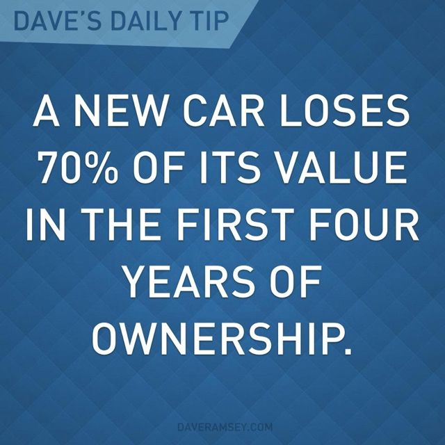 A new car loses 70% of it value in the first four years of ownership.
