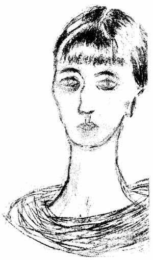 Автопортрет. Ахматова 1926 г.
