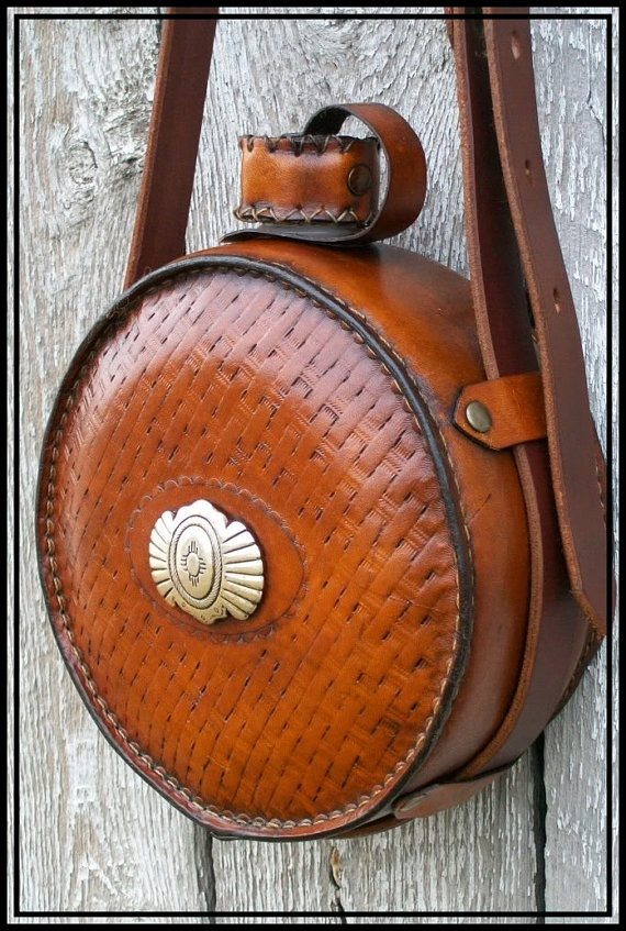 Custom Made Personalized Leather Canteen By