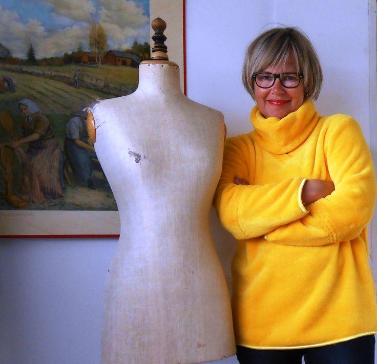 Zachte warme fleece trui voor koude lentedagen uit BURDA