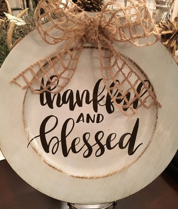 13 Thankful and Blessed Charger Plate by MiltonMonograms on Etsy