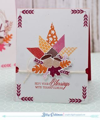 Hem Your Blessings Card by Betsy Veldman for Papertrey Ink (August 2015)
