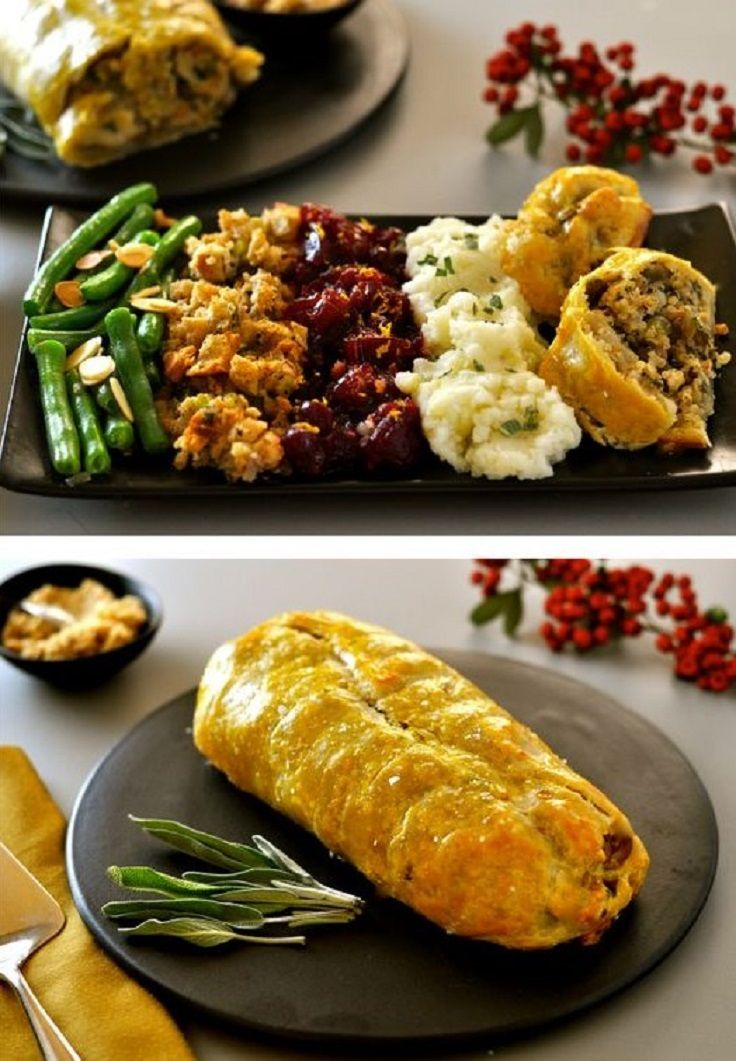 Vegan Roast Wellington with Lentils, Quinoa, Chestnuts & Mushrooms - 14 Very Appealing Vegan Thanksgiving Recipes