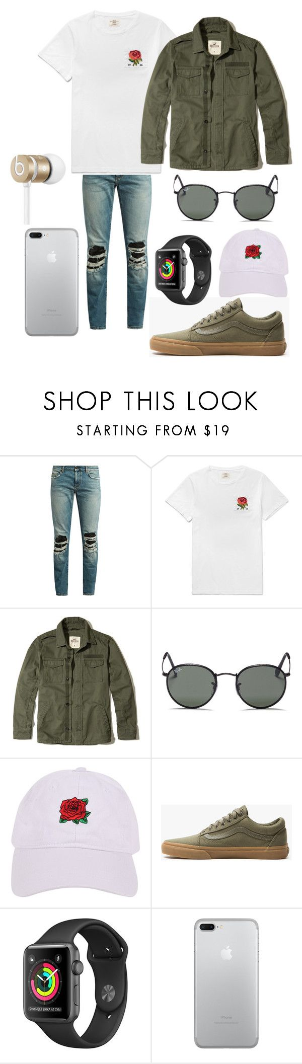 """Karev"" by vejacomotenpovoa ❤ liked on Polyvore featuring Yves Saint Laurent, Hollister Co., Ray-Ban, Armitage Avenue, Vans, Beats by Dr. Dre, men's fashion and menswear"