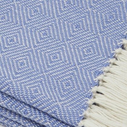 Diamond Recycled Blanket made 100% of plastic bottles but feels like cotton! Large size, Soft and smooth feel, Hard wearing, easy to clean, stain resistant, Mould resistant, Machine washable, Great for indoor or outdoor use. Ideal for allergy sufferers - moths won't eat them, dust mites won't live in them.