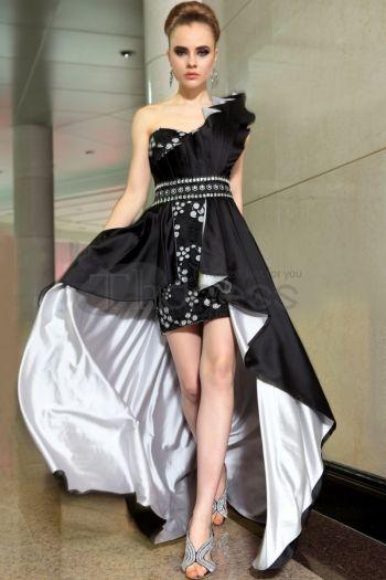 Abiti in Magazzino-Kim Kardashian una spalla abiti da sera con perline e cristalli 6063
