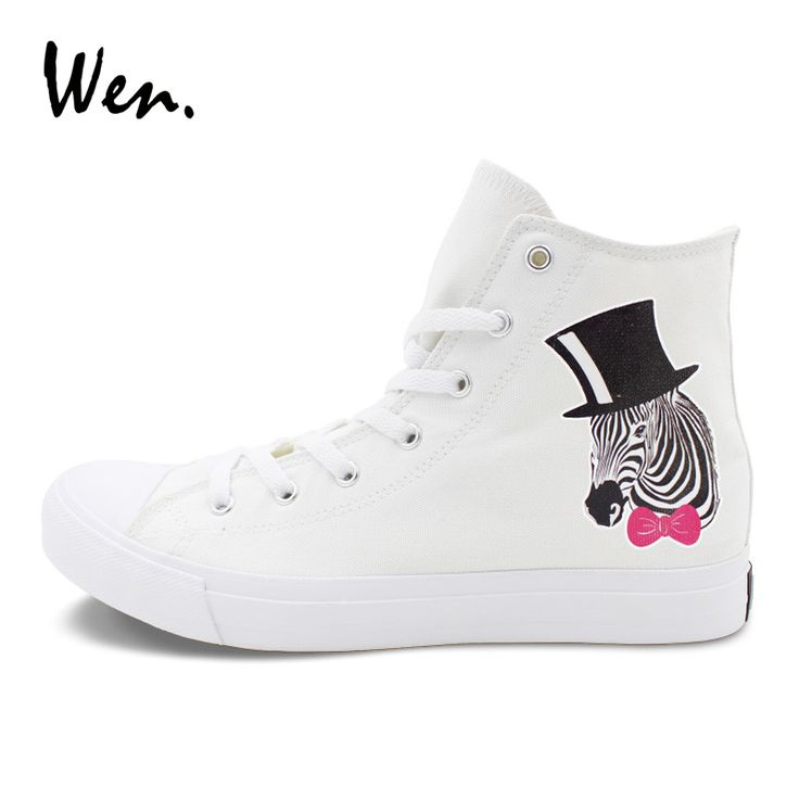Wen White Canvas Sneakers Original Design Mr.Zebra Shoes Sport Athletic Flat High Top Men Women Skateboarding Shoes. Yesterday's price: US $49.00 (40.14 EUR). Today's price: US $31.36 (25.92 EUR). Discount: 36%.