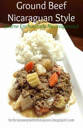 Ground Beef Nicaraguan Style - Carne Enchorizada Nicaraguense