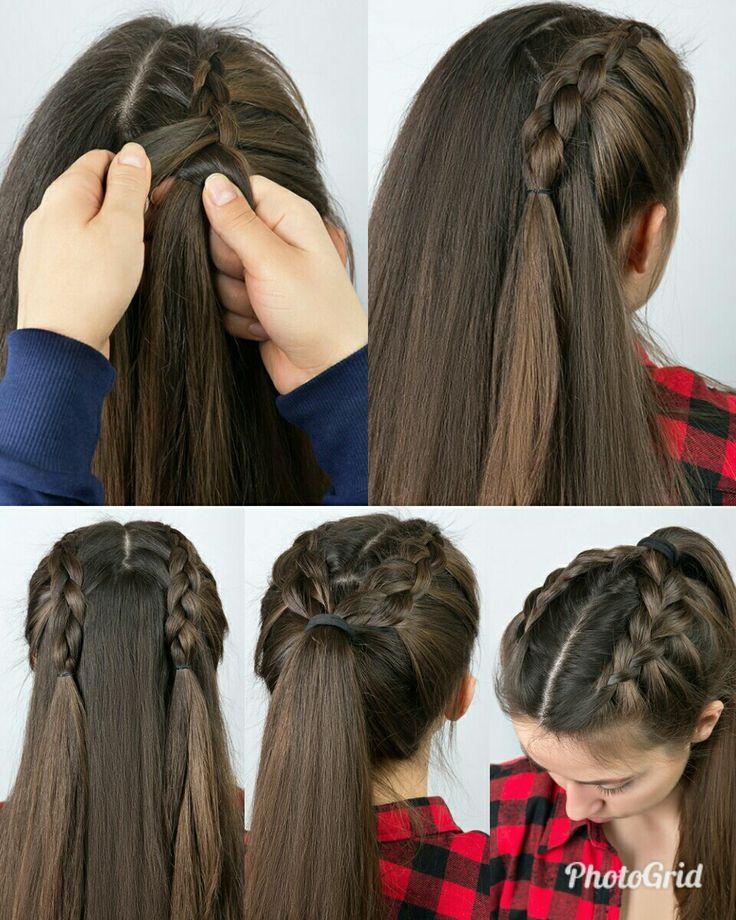 Hermosos peinados escolares