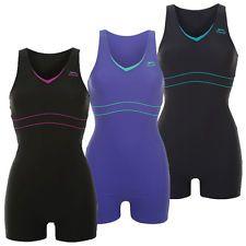 Slazenger Damen Badeanzug mit Bein S M L XL 2XL 3XL 4XL Schwimmanzug Frauen neu