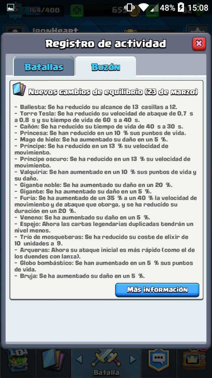 Actualización Clash Royale (23/03/2016) anunciado oficialmente
