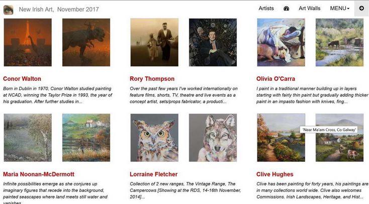 Irish artists, Irish art, Painting of Ireland, more than 700 artists showing their work online here.