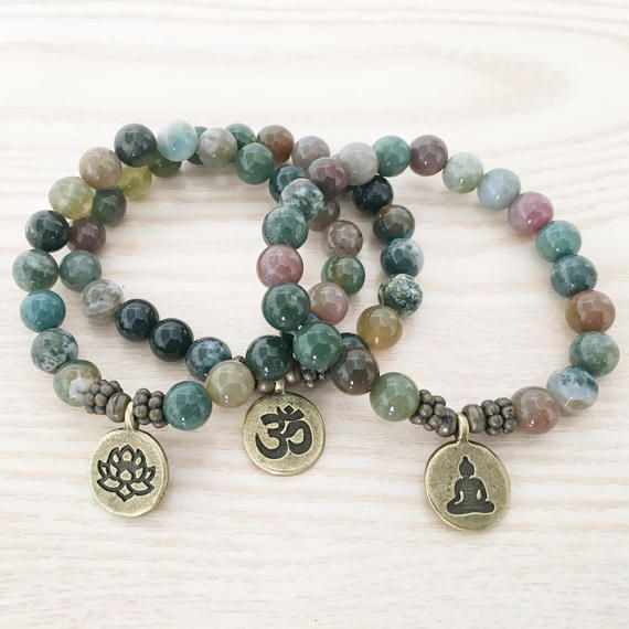 Giada gioielli Yoga braccialetto Handmade di EchosHealingStones
