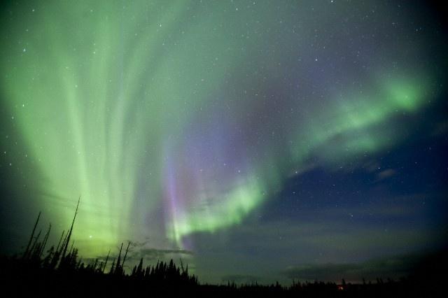Aurora near Drayton Valley, Alberta, Canada.