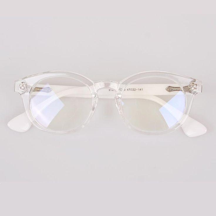 OPTICS MUSEUM CHROME White Vintage Eyeglasses Women Glasses Fashion Spectacles #OPTICSMUSEUM