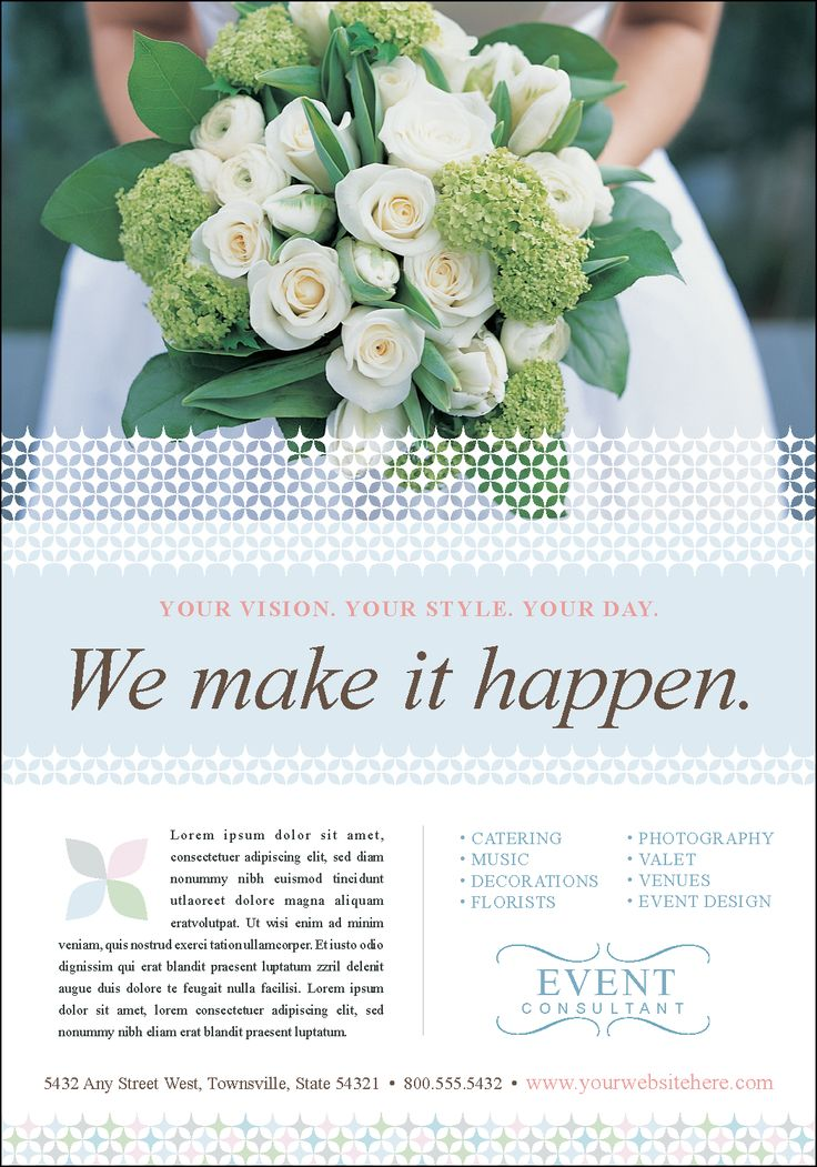 Wedding Planner Brochure Samples   Google Search