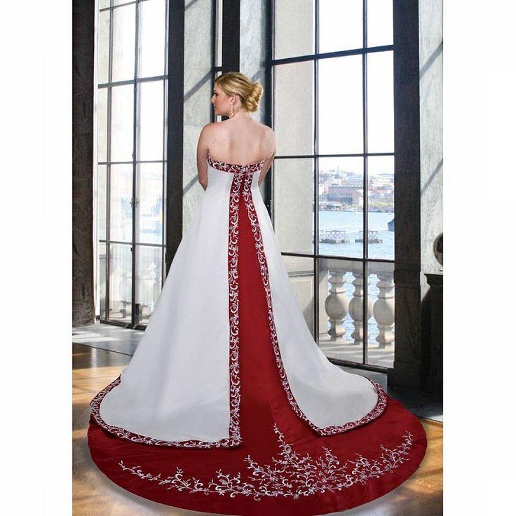 Red Wedding Dress Plus Size Photo Ideas