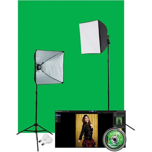 Idea for Lauren - video & photo Westcott Illusions uLite 2-Light Green Screen Photo 401N B&H