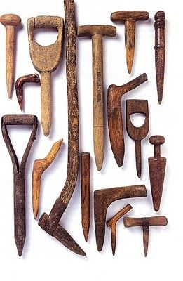 A dibber or dibble is a pointed wooden stick for making holes in the ground so that seeds, seedlings or small bulbs can be planted. The dibber was first recorded in Roman times and has remained mostly unchanged since.