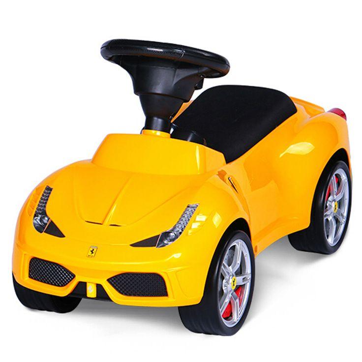 En klassisk sparkbil designad som en sportig Ferrari 458 Italia med noggranna detaljer. Förvaringsutrymme under sätet och tuta på ratten. Tillverkad av robust plast för att vara redo för spännande utflykter.  Gåbilar och sparkbilar är de små barnens favorit och en uppskattad födelsedagspresent, doppresent eller julklapp som barnen kommer att ha roligt med i många år.   Fakta Ferrari 458 Italia. Storleksmått: 69,9 x 30,2 x 38,2 cm. Passar barn från 18 månader. Färg: Gul.  Detta är en…