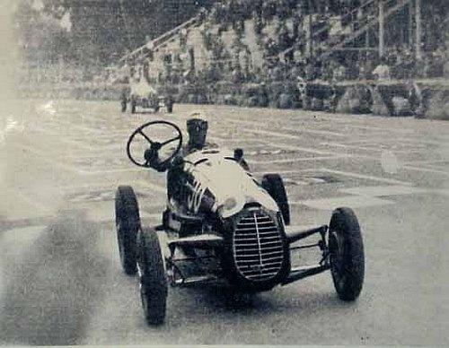 Tazio Giorgio Nuvolari. Parco del Valentino (Torino) 3 settembre 1946