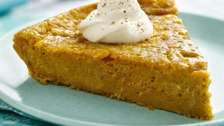 Volunteer to bring the pumpkin pie this Thanksgiving.  This recipe is a snap--no crust to make!