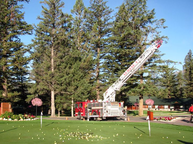 Victim Services golf tournament ball drop, Jasper Park Lodge golf course