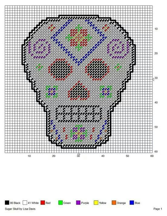 Lucrative image inside free printable plastic canvas patterns skulls