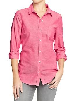 Women's Oxford Shirts | Old Navy $24.94