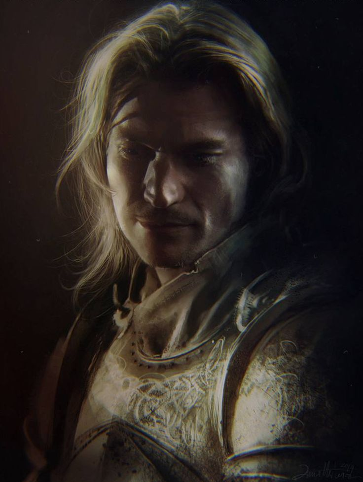 "I am the Lord Commander of the Kingsguard, you arrogant pup. Your commander, so long as you wear that white cloak. Now sheathe your bloody sword, or I'll take it from you and shove it up some place even Renly never found. ""  – Jaime to Loras Tyrell"