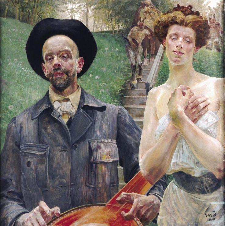 Jacek Malczewski - Self-portrait with a Muse  1908