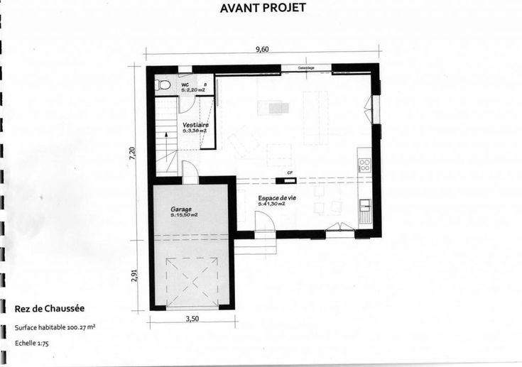 17 Best images about Maison on Pinterest House plans, Villas and - plan maison en l 100m2