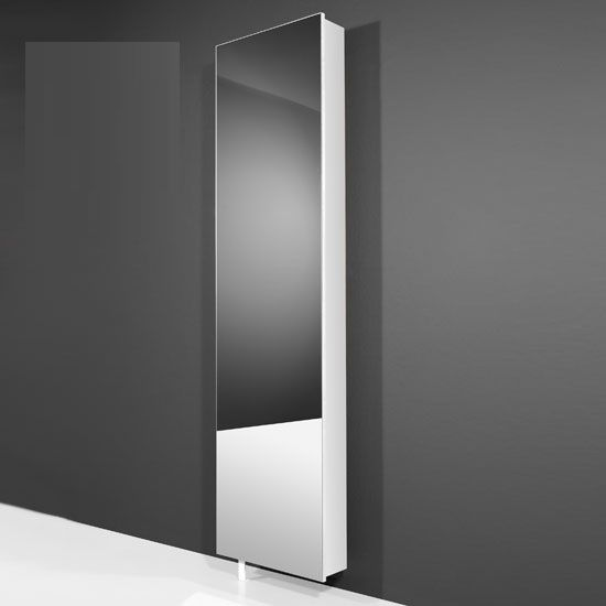 Igma Mirrored Rotating Shoe Storage Cabinet In White