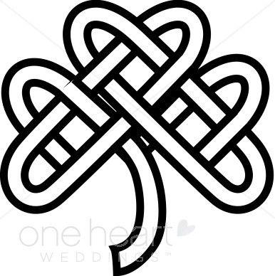 Celtic Knot Shamrock Clipart   Celtic Wedding Clipart