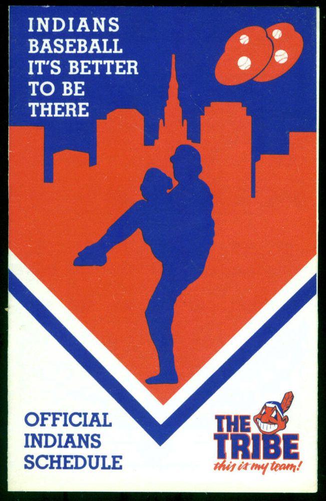 1988 CLEVELAND INDIANS BIG BOY RESTAURANT BASEBALL POCKET SCHEDULE FREE SHIPPING #Schedule