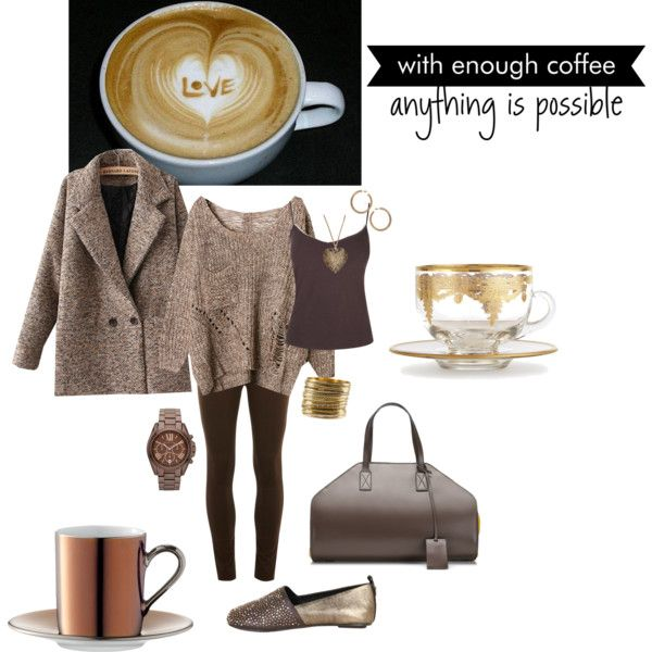 """""""Coffee :)"""" by musicfriend1 on Polyvore"""