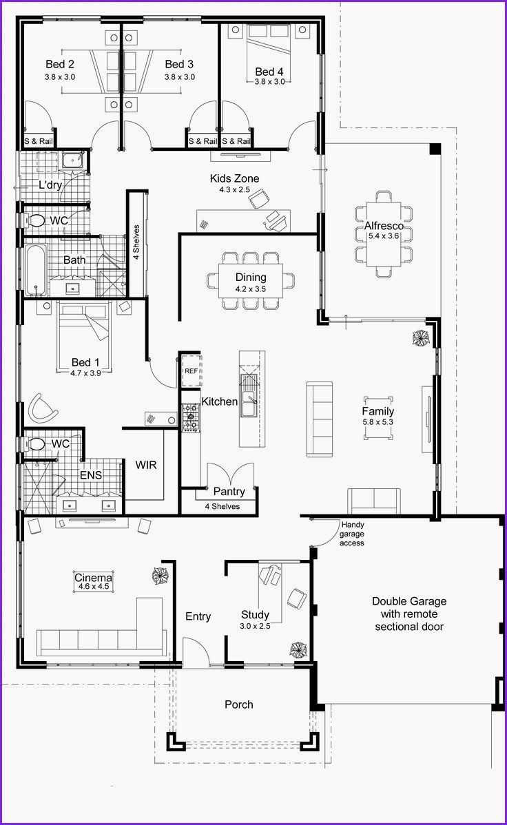 Awesome Floor Free Freetinyhomesplans Home Plans Awesome Home Floor Plans Free Awesome In 2020 Open Floor House Plans Modern Floor Plans Open Concept House Plans
