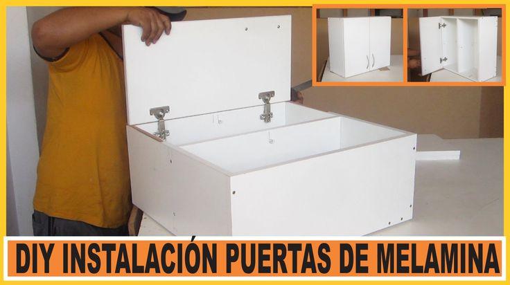 Como hacer muebles /  Instalar Puertas en muebles de cocina fabricados e...