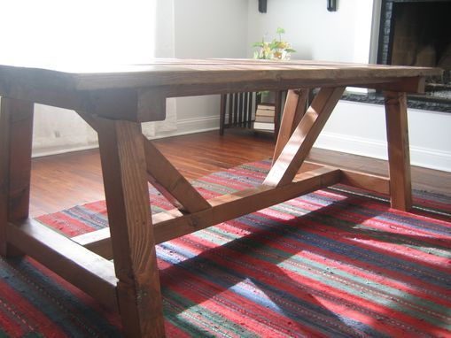 Custom Made Trestle Farmhouse Table, Reclaimed Wood, Farmhouse Dining  Table, Rustic Table,