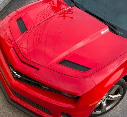 2010-2013 CAMARO ACS T3 HOOD PORT KIT    This nine piece kit will convert your Camaro OEM stock hood into the look and feel on a high end aftermarket performance hood. This hood port kit not only looks great, but also will extract hot air from the engine, it will reduce body lift at high speeds and still allow water to drain away from the engine bay and towards the front radiator to protect your electronics.