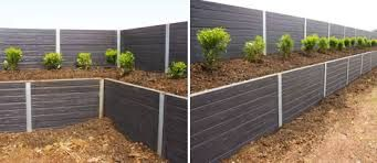 concrete sleepers retaining wall - Google Search