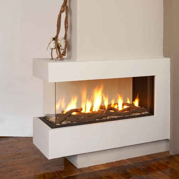 17 best images about 3 sided fireplace on
