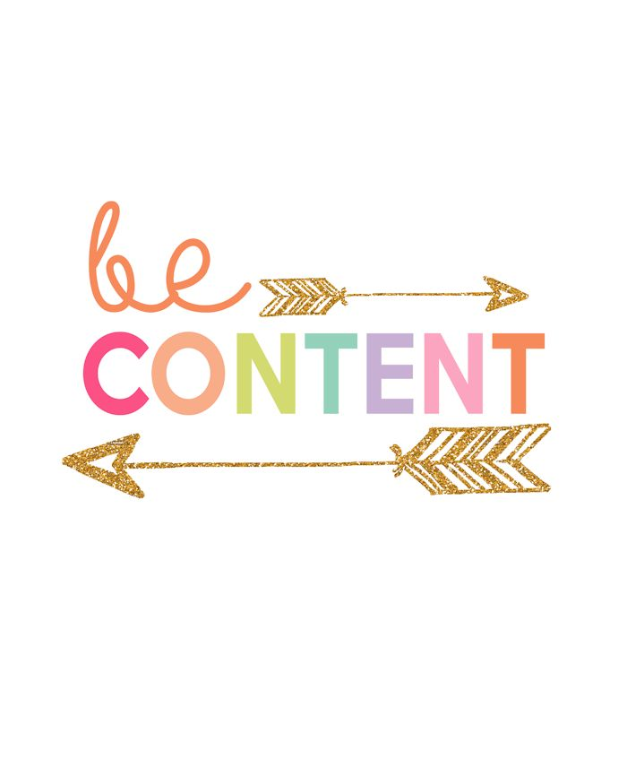 Be Content Printable | Day 8 Kids Prints Series - The Girl Creative
