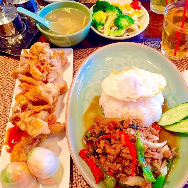 レシピとお料理がひらめくSnapDish - 22件のもぐもぐ - ガパオとおかずランチ by y