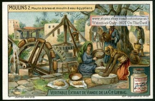 Ancient Egyptian Water Grain Grinding Mill 1920s Card ...