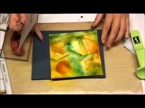 Kaart 3 met Tim Holtz technieken - YouTube