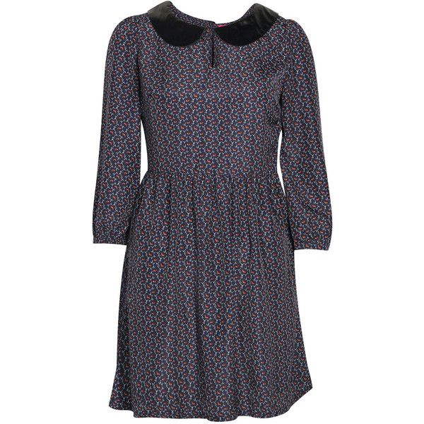 Boohoo Heidi Peter Pan Collar Fit and Flare Dress (1.490 RUB) ❤ liked on Polyvore featuring dresses, blue peter pan dress, blue fit and flare dress, blue fit-and-flare dresses, blue dress and peter pan collar dresses